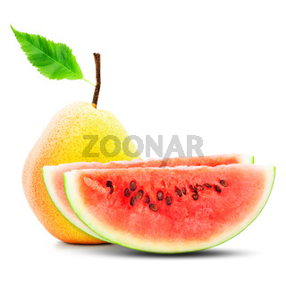 Pear and watermelon composition