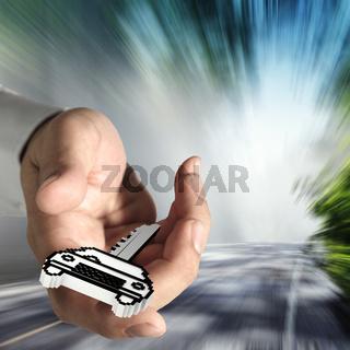 pixel car key icon
