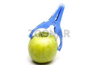 Apfel mit Klammer