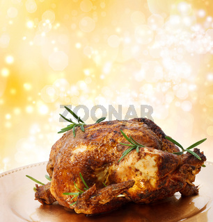 Roasted Holiday Whole Chicken