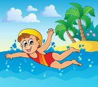 Swimming theme image 2 - picture illustration.
