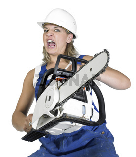 weird chain saw girl