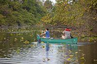 Kanu auf einem See im Hugh Taylor Birch State Park in Fort Lauderdale