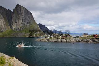 Fishing boat in fjord