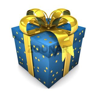 Blue Gift Stars