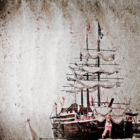 old sail ship grunge paper texture