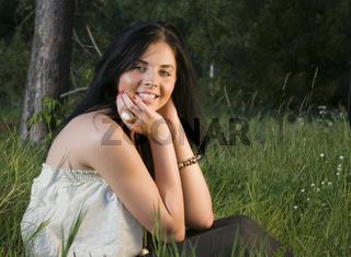 Julia in the grass