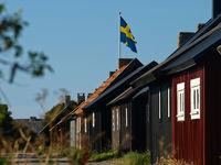 Fischerdorf auf Gotland, Schweden
