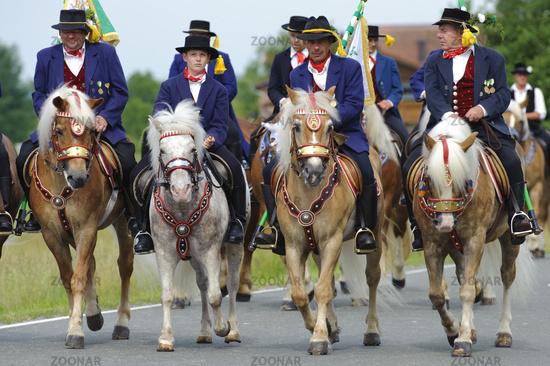 Katholische Pferdeprocession