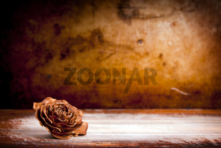 Wooden Rose Background