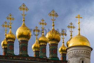 Domes Of The Church Of The Nativity Of Moscow Kremlin