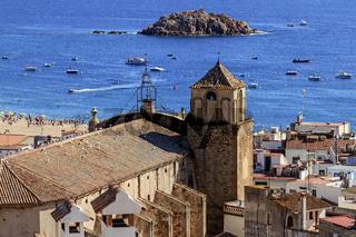 Tossa De Mar Church Catalonia Spain