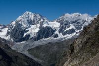 Blick auf die Königspitze in Südtirol Italien