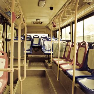 city bus seat