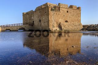 Castle Reflection Paphos Cyprus