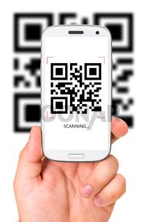 scanning QR code