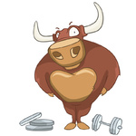 Cartoon Character Bull