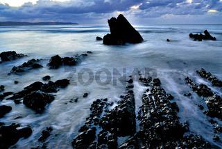 Spanien, Asturien: Abend am Strand Vega
