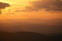 Sonnenuntergang im Thüringer Wald