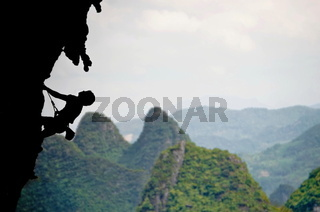 Shape of a Climber in Moon Hill Moutains