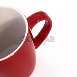 Looking inside an empty coffee mug