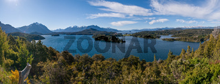 Nahuel Huapi lake at Bariloche Argentina PANORAMA