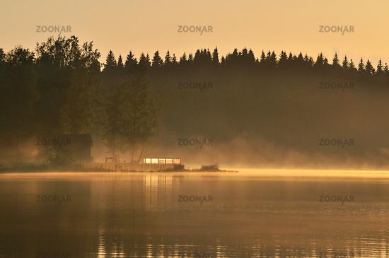 Abendstimmung an schwedischem See