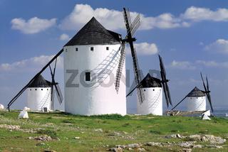 Spanien, La Mancha: Windmühlen von Campo Criptana