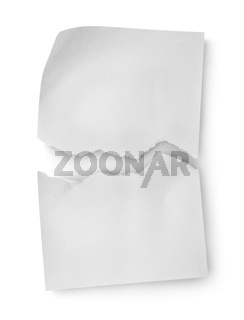 Sheet of white paper isolated