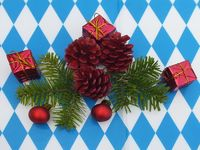Bavarian food table christmas decorations