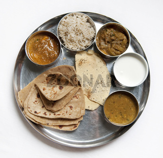 Thali Traditional Indian Meal