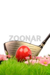 Easter golfing