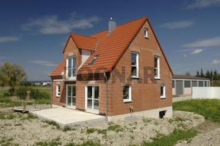 Rohbau von Einfamilienhaus