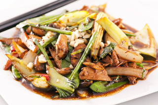 Hot spicy chicken with vegetables