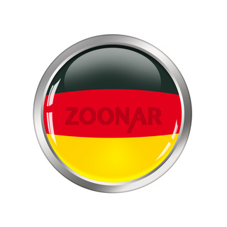 National Flag of germany, button