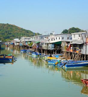 Tai O fishing village in Hong Kong