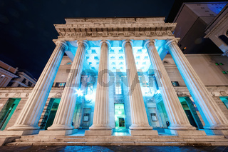 The Teatro Carlo Felice, opera house of Genoa, Italy,