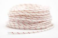 Bundle of white, nylon laundry rope