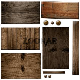 braunes Schild aus Holz