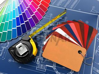 interior design. Architectural materials