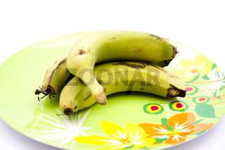 Bananen auf Teller
