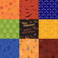 Nine Halloween texture pattern collection set