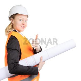 Engineer Woman Thumbs Up