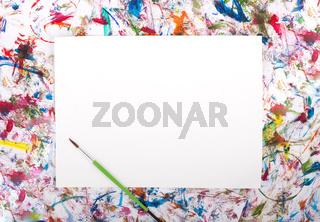 Watercolor, splash, paper