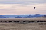 Ballonfahren über der Wüste