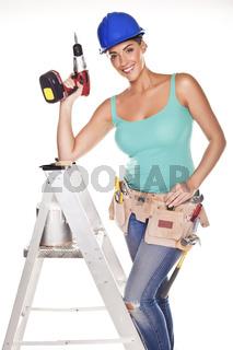 Sexy DIY woman.