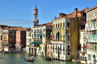 Venedig - Canal Grande  - Miniatureffekt