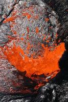 Lavablase am Vulkan Erta Ale in Äthiopien