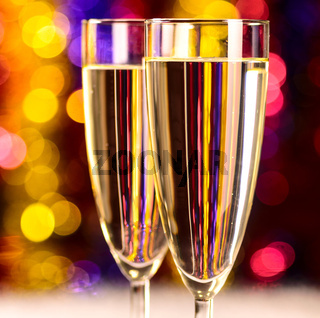 champagne at christmas party