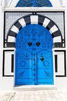 Blaue Tür.
